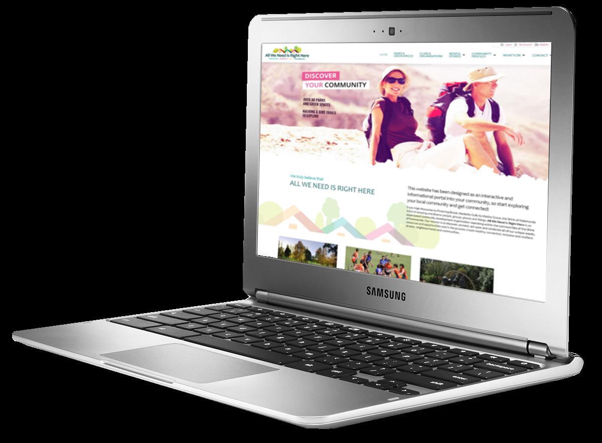 Portfolio page laptop AWNRH